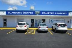 North Shore Laundry (Parking lot & main entrance)
