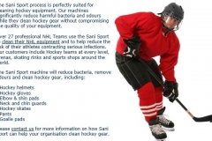 Ideal for hockey gear & sports equipment